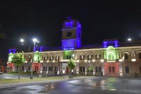 La provincia ilumina la Casa de Gobierno por el Día Internacional de las Personas con Discapacidad