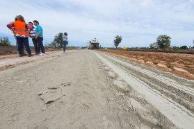 Avanza la obra de rehabilitación del acceso a Maciá