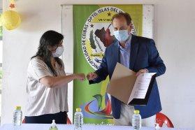 """Seguimos saldando deudas históricas"", dijo Bordet en Ceibas"
