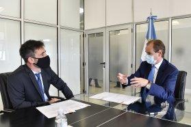 Bordet firmó convenios con el CFI para proyectos de infraestructura y asistencia a empresas del sector tambero