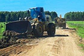 La zonal Chajarí avanza con tareas de conservación en caminos del departamento Federación