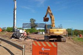 Un 25 por ciento de avance presenta la construcción del puente sobre arroyo García en el departamento Gualeguaychú