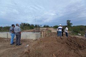 Avanza la construcción del puente sobre el arroyo García en el departamento Gualeguaychú