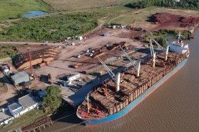 El Puerto de Ibicuy realizó embarques por casi 200.000 toneladas en 2020