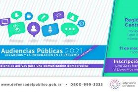 Hasta el 4 de marzo se podrá inscribir a la audiencia pública de servicios de comunicación audiovisual