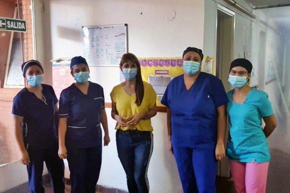 La ministra de salud visitó el hospital de San Gustavo