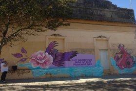 Se pintaron murales por los derechos de las mujeres