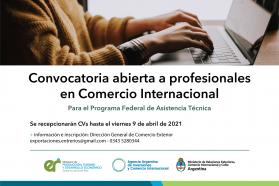 Producción convoca a profesionales en comercio internacional