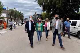 Bordet recorrió obras viales y de gas natural en Paraná