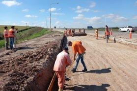 Continúan las tareas de rehabilitación de la variante Joaquín Vivanco en el ingreso a Victoria