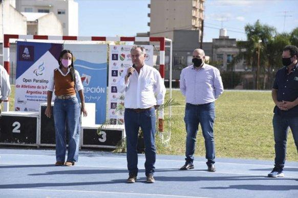 El gobierno acompañó el Open Paralímpico de Atletismo