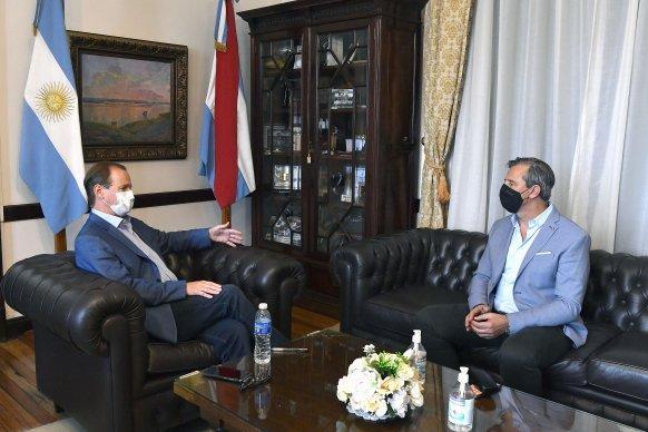 Bordet analizó con Bahl las acciones conjuntas entre el gobierno provincial, municipal y la Nación