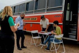 El Becario realiza operativos de control en el servicio de transporte escolar rural y del cumplimiento de protocolos