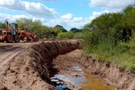 Se ejecutaron tareas de conservación en el acceso a Chiqueros