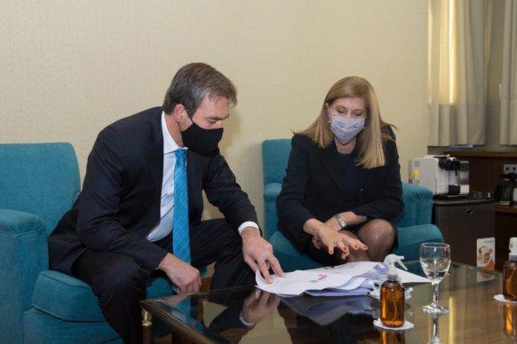 La ministra Romero se reunió con el nuevo Ministro de Justicia de Derechos Humanos de la Nación, Martín Soria