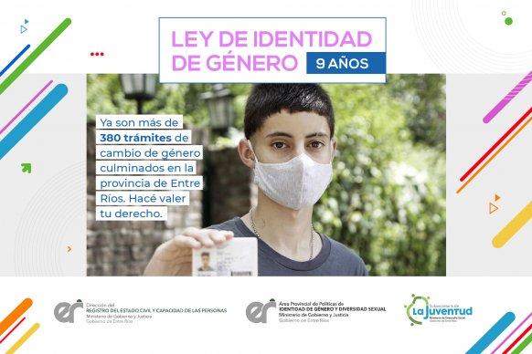 Se realizaron casi 400 trámites de cambio de género en Entre Ríos