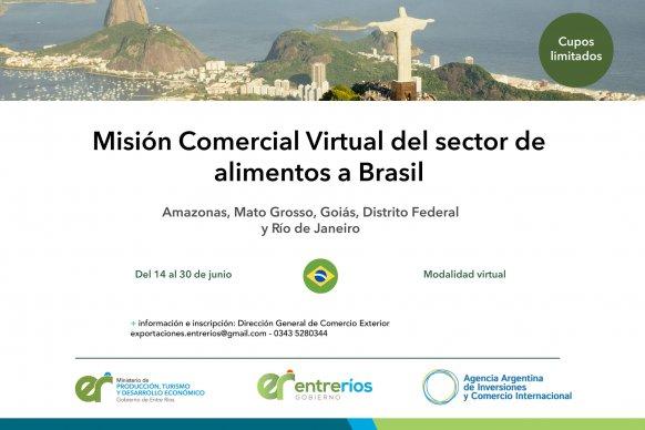 Se abre la convocatoria para la Misión Comercial Virtual del sector de alimentos a Brasil