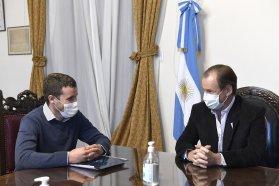 Bordet recibió al nuevo intendente de Aldea San Antonio