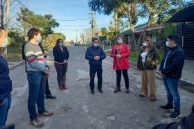 Comenzó la segunda etapa de la obra en el acceso a Aldea Brasilera