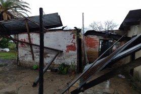La provincia asiste a localidades afectadas por las tormentas