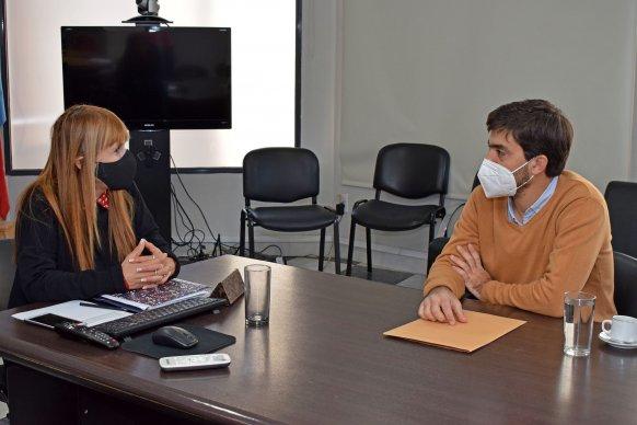 La ministra de Salud recibió al intendente de La Paz
