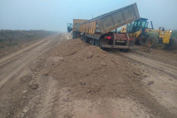 Mantenimiento de caminos productivos del departamento Diamante