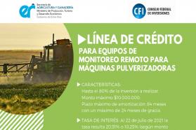 La provincia dispone una línea de crédito para la adquisición de equipos de monitoreo remoto de máquinas pulverizadoras