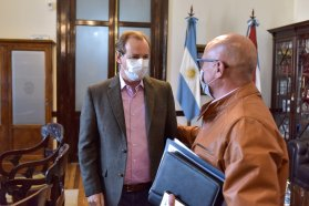 El gobernador acordó acciones conjuntas con el intendente de Sauce de Luna