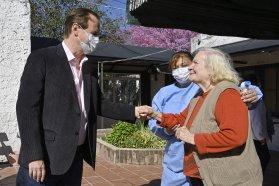 Bordet destacó el compromiso de su gestión con el cuidado de personas mayores