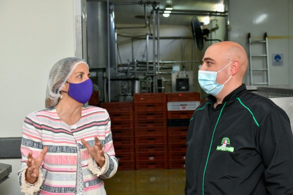 La vicegobernadora Stratta resaltó el acompañamiento provincial a las empresas entrerrianas