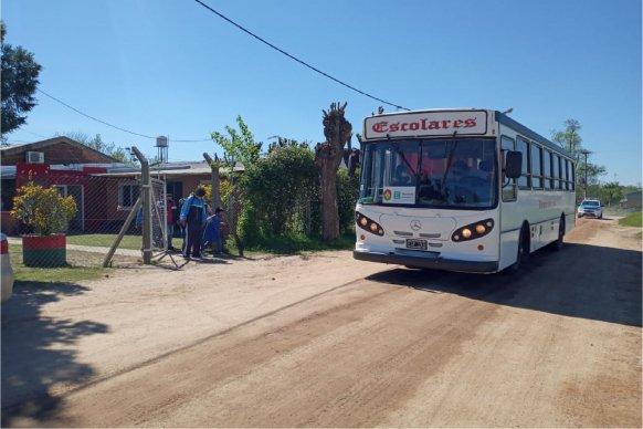 Continúan los controles del Becario al transporte escolar rural