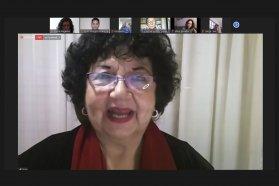 Con una clase magistral de Dora Barrancos se realizó el sexto encuentro de la Ley Micaela en el Ministerio de Gobierno
