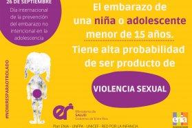 Día Mundial de Prevención del Embarazo no Planificado en la Adolescencia