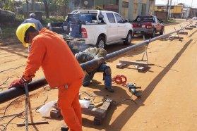 Comenzaron los trabajos de ampliación de la red de gas natural en Concordia