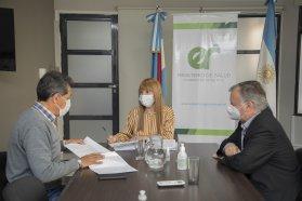 Reunión de Salud y Deportes con  el club Patronato por el retorno a las canchas