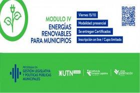 Está abierta la inscripción a la capacitación en Energías Renovables para Municipios