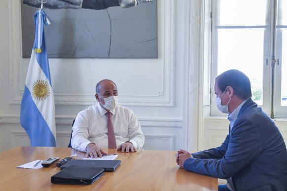 Bordet y Manzur dialogaron sobre obras para Entre Ríos y la apertura de pasos fronterizos