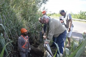 Iluminan el acceso a Pueblo Liebig y suman cuatro obras en el departamento Colón
