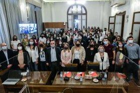 La vicegobernadora Laura Stratta recibió a los estudiantes de los departamentos de Victoria, Nogoyá y Diamante